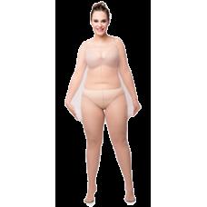 Size+++ Pantyhose - Ingewerkt broekje - 20D