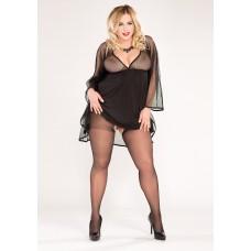 Size++ Pantyhose - Crotchless - Lycra - 20D