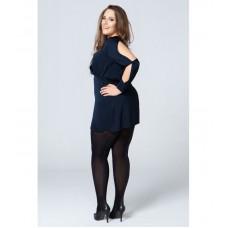 Size++ Pantyhose - Kaotik_blauw - 50D