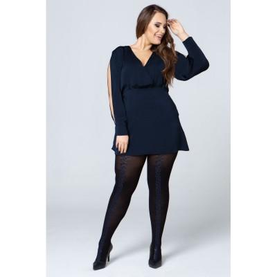 Size+ Pantyhose - Kaotik_blauw - 50D